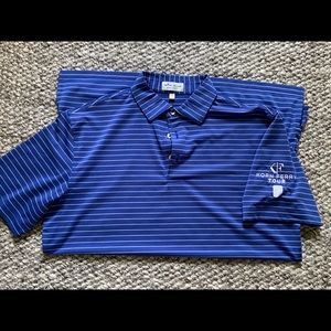 Blue striped Peter Miller polo- great condition